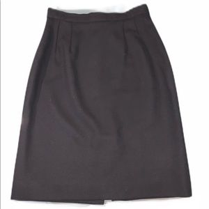 Cache Black Wool Pencil Skirt Size 6